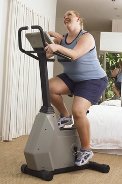 More weight results in a greater calorie burn.