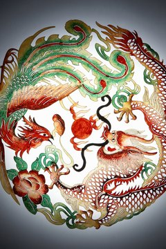 The phoenix and the dragon are important creatures in Chinese mythology.