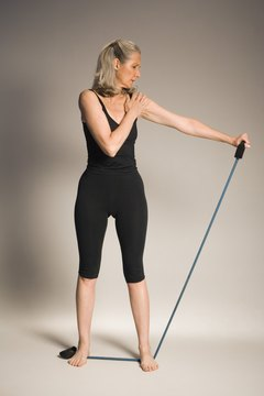 Resistance bands are easy to use and efficient for muscle toning.