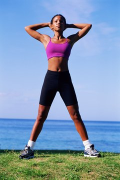 A toned, fit body is achieved through exercise and healthy eating.