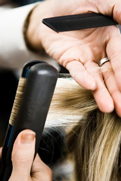 Straightening your hair can be damaging if you're not careful.