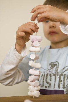 Marshmallows are fun to eat, and they make great art supplies for creative fun.