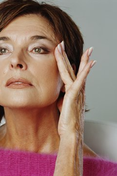 Use facial yoga exercises to naturally tighten facial and neck muscles.