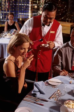 A good server is knowledgeable about choosing wine and pairing it with food.