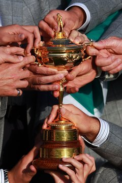 Everybody wants to get their hands on the Ryder Cup, the trophy for probably the most famous match-play event in the world.