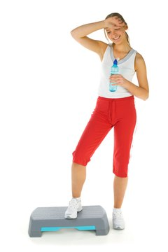 Get your aerobic fix on the stepper platform.
