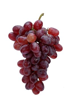 Red grapes supply small amounts of protein and calcium.