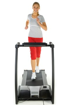 Walking on a treadmill is an effective way to burn calories.