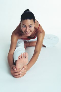 Strengthen and stretch your calves, hamstrings and spine.