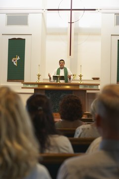 For Catholics, the Mass is celebrated at church each Sunday.