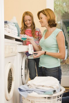 Always wash white jeans with other light fabrics.