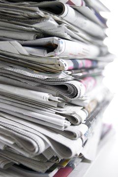 Press releases help reporters write stories and fill the pages of newspapers.