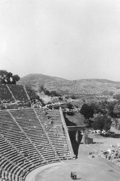 The theater at Epidaurus circa 1959.