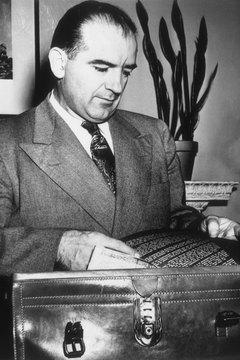 Sen. Joseph McCarthy's rabid attacks on communism embodied America's postwar paranoia.