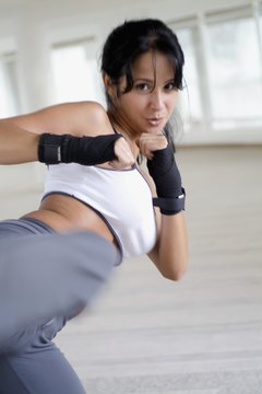 Strong muscles put power behind your kickboxing moves.