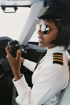 Female pilots of major air carries have over 4,000 hours of flying before entering the cockpit.