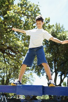 A balance board works like a seesaw that reacts to shifts in weight to reach equilibrium.