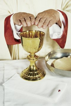 A sacramentary describes all the words and gestures a priest uses to celebrate the Mass.