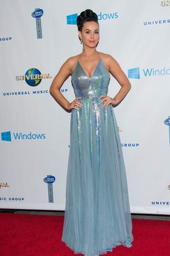 Katy Perry stuns in a halter-style gown.