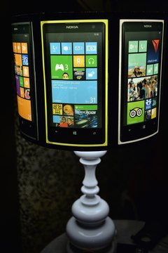 Windows Phone devices use a similar interface to Windows 8 computers.