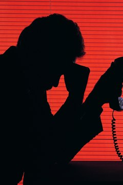 Male on telephone