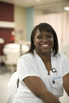 Female health worker, smiling, portrait