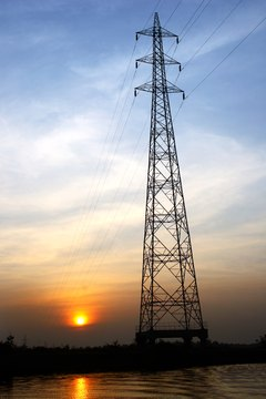 Low angle view of a pylon