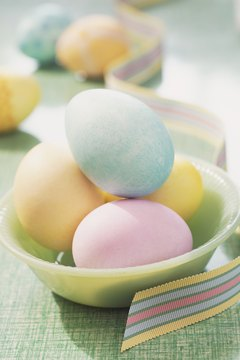 Colorful eggs are a symbol of Easter in Sweden.