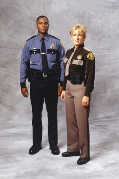 American Police officer and sheriff (portrait)