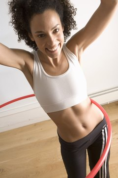 The sport hula hoop tones and flattens your belly.