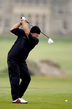 John Daly can achieve swing speeds over 130 mph.