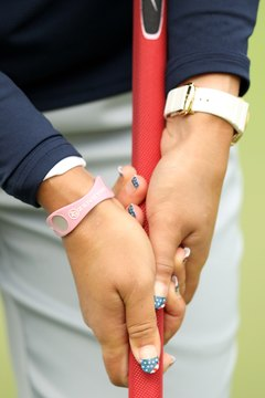 Pro golfers such as Michelle Wie typically regrip their clubs regularly.