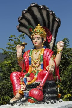 In Hindu tradition, Lord Vishnu preserves and protects the universe.
