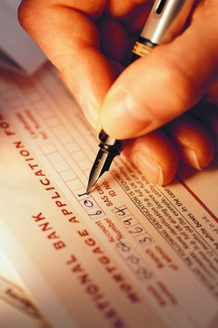Filling out forms is a step in getting or modifying a mortgage.