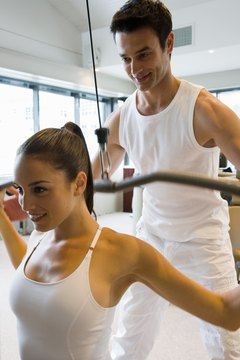 Fitness specialists train and motivate their clients.