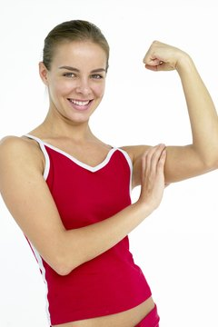 Curls can help tone the front of your upper arms.