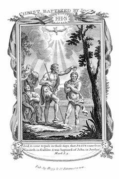 Mennonites cite John the Baptist's baptism of Jesus as a model.
