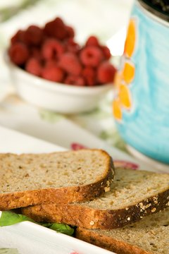 Choose whole-wheat bread over white bread for more fiber.