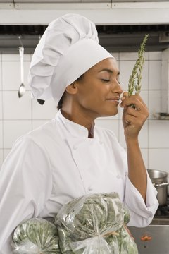 Chefs select the best ingredients using strong senses of taste and smell.