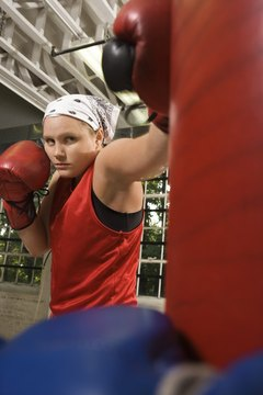 Working the heavy bag helps you develop your boxing skills.