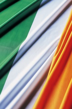 The Irish flag was adopted around the 1919 start of the Irish War of Independence.