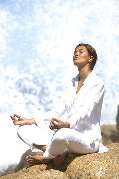 Use deep yoga breathing for stress reduction.