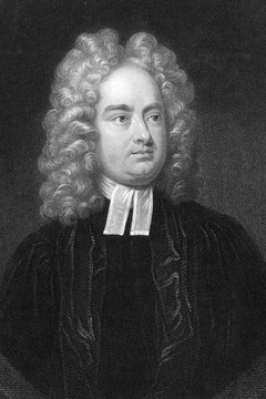 Jonathan Swift used irony to temper the darkness of his writing.