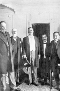 Roosevelt's successful mediation of peace negotiations between Russia and Japan in 1905 earned him a Nobel Peace Prize the following year.