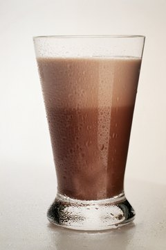 A glass of chocolate milk is ideal after different types of strength training.