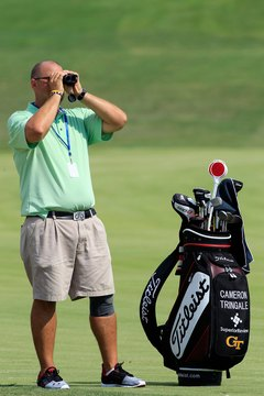 Range finders are allowed in college golf if they measure only distance.