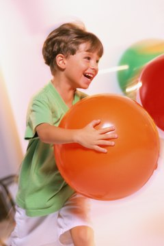 Grab a beach ball for a quick demonstration of motion energy.