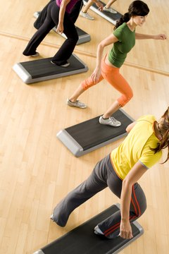 Work on mood, muscles and get your cardio with step aerobics.