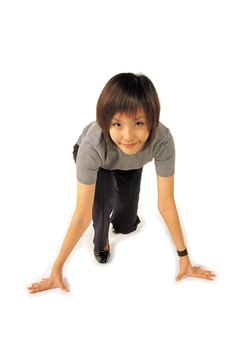 The bear crawl targets all of your major muscle groups.