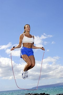 Jumping rope tones your legs and rear.